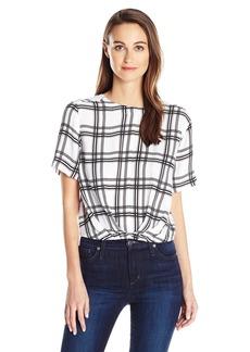GUESS Women's Half Slveeve Alize Twist Front Top  XL