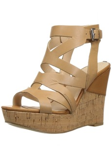 GUESS Women's Hannele Wedge Sandal  8.5 Medium US
