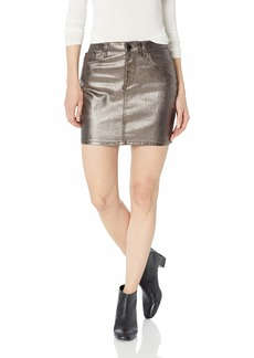 Guess Women's Hi Gloss Metallic Bodycon Skirt Pewter metallic pewter S