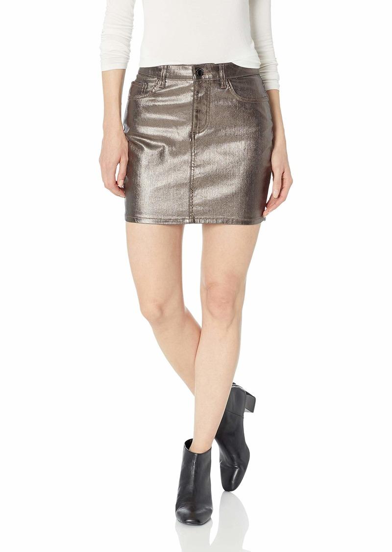 Guess Women's Hi Gloss Metallic Bodycon Skirt Pewter metallic pewter S