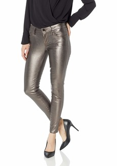 Guess Women's Hi Gloss Metallic Sexy Curve Jean Pewter metallic pewter