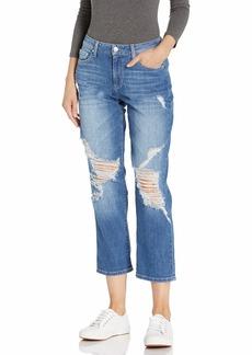 GUESS Women's High Rise Straight Leg Crop Jean