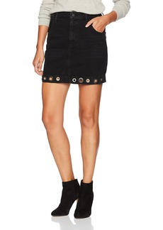 GUESS Women's High Waist Skirt with Grommets