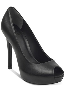 Guess Women's Honora Peep-Toe Platform Pumps Women's Shoes