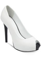 Guess Women's Honora Peep-Toe Platform Pumps Women's Shoes