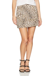 GUESS Women's Jax A-line Skirt Leo camo Natural