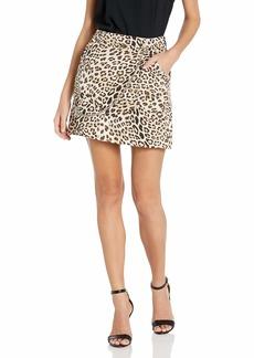 GUESS Women's Jax A-line Skirt Leo camo Natural