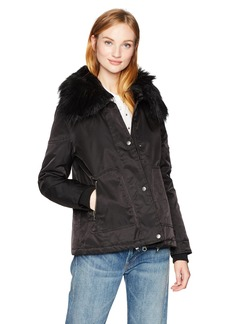 Guess Women's Joy Faux Fur Collar Jacket