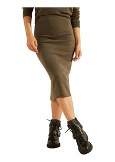 GUESS Women's Kaia Midi Sweater Skirt