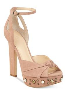 Guess Women's Kenzie Studded Platform Sandals Women's Shoes
