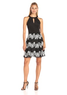 GUESS Women's Lace Fit and Flare Dress
