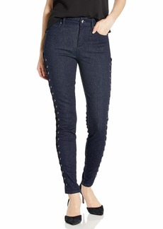 GUESS Women's LACE UP 1981 Skinny Jean ANSEN Rinse wash