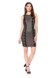 GUESS Women's Lace/mesh Bodycon Dress