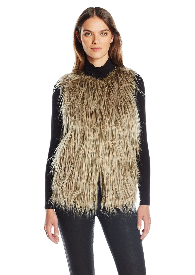 Guess Women's leeveless Michela Fur Vest