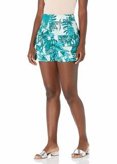 GUESS Women's Lilla Super High Rise Linen Short