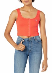 GUESS Women's Sleeveless Classic Ribbed Crop Tank  Extra Large