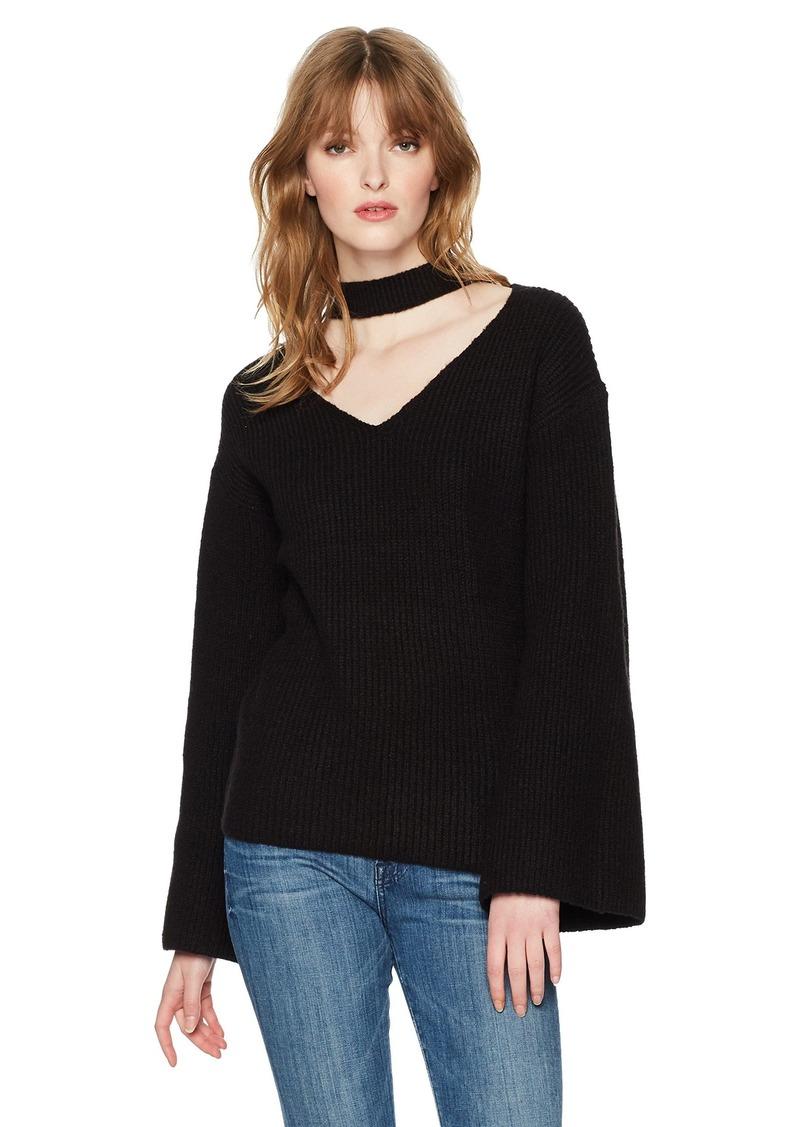 GUESS Women's Long Adele Bell Sleeve Sweater  XS
