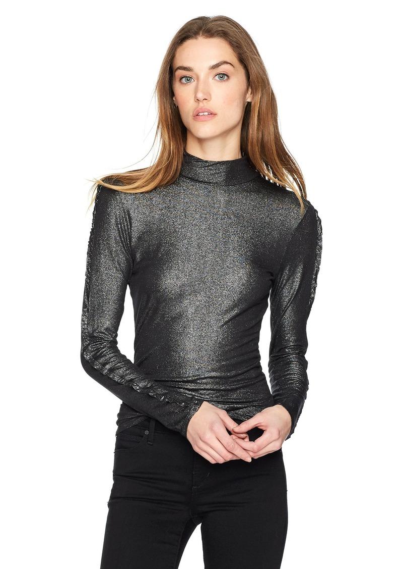 5148073b052 GUESS GUESS Women s Long Avalon Ruffle Sleeve Top L
