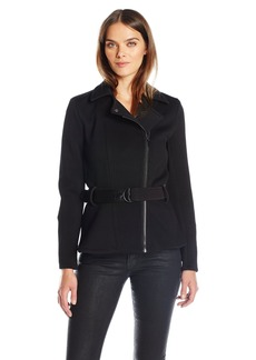GUESS Women's Long Sleeve Agna Moto Jacket  XL