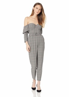 GUESS Women's Long Sleeve Alexa Bustier Jumpsuit
