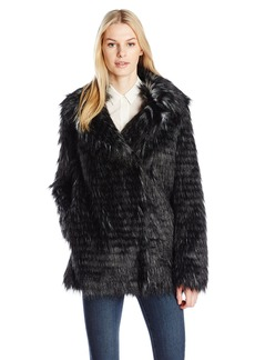 Guess Women's Long Sleeve Anna Faux Fur Jacket  S