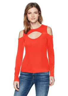 GUESS Women's Long Sleeve Antonia Cut Out Top  XL
