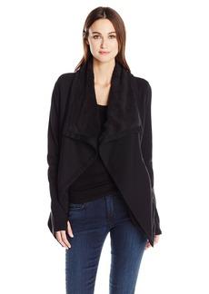 Guess Women's Long Sleeve Bailey Sherpa Jacket  L R