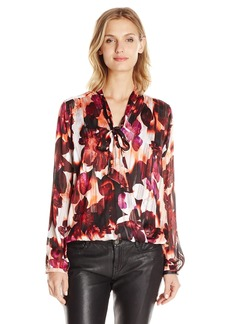 GUESS Women's Long Sleeve Bellissa Surplice Shirt