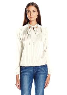 GUESS Women's Long Sleeve Bellissa Surplice Shirt