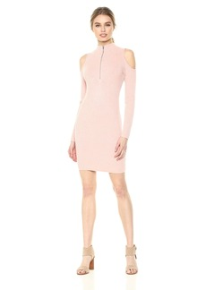 GUESS Women's Long Sleeve Blair Cold Shoulder Sweater Dress  S