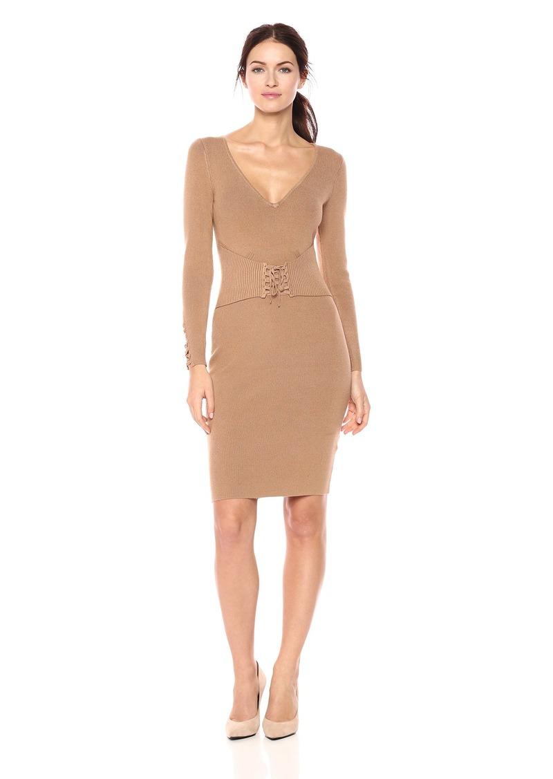 eb28cdd3494 GUESS GUESS Women s Long Sleeve Blake Corset Sweater Dress XL