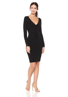 Guess Women's Long Sleeve Blake Corset Sweater Dress  XS