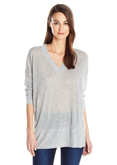 Guess Women's Long Sleeve Boston Deep V-Necktop  M/L