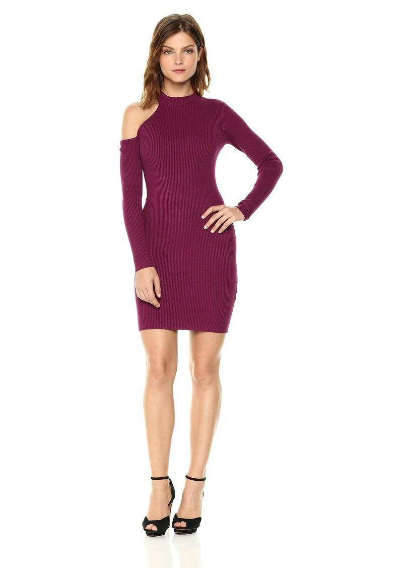 GUESS Women's Long Sleeve Brittani Asymmetrical Dress  L
