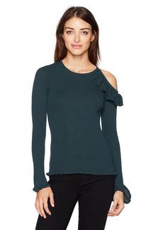 GUESS Women's Long Sleeve Brook Shoulder Cut Out Sweater
