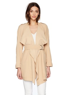 GUESS Women's Long Sleeve Cali Soft Trench Coat Sand XS
