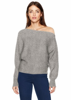 GUESS Women's Long Sleeve Catrina Off Shoulder Sweater  L