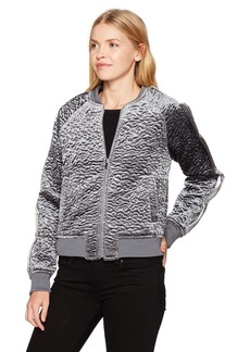 GUESS Women's Long Sleeve Charlee Textured Bomber