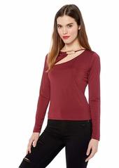 GUESS Women's Long Sleeve Cheryl TOP  XL