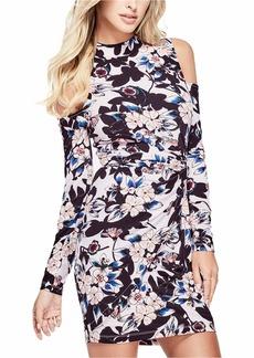 GUESS Women's Long Sleeve Cold Shoulder Mariah Dress