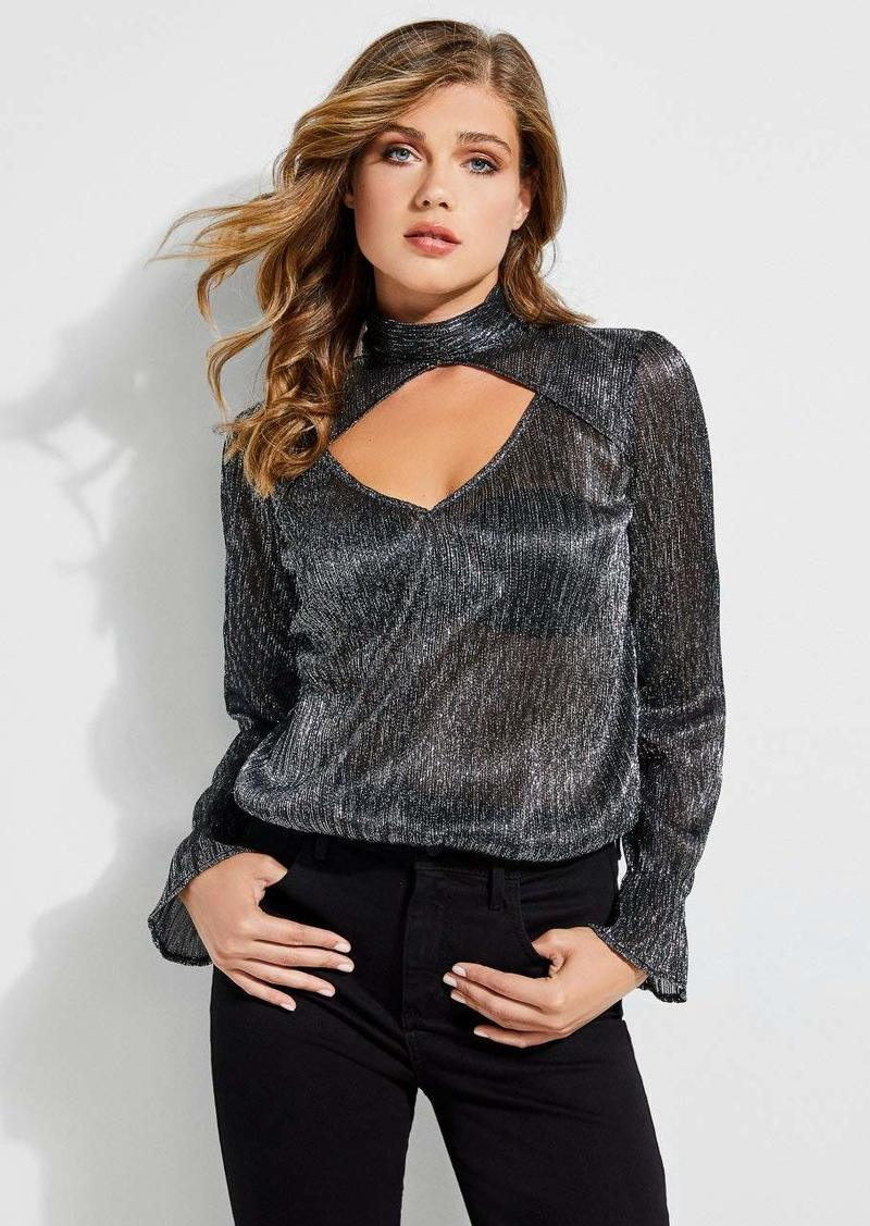 GUESS Women's Long Sleeve Cosmo Top  M
