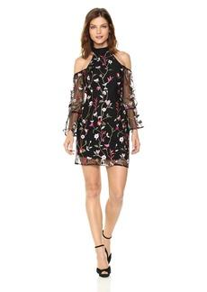 GUESS Women's Long Sleeve Cyndi Embroidery Dress