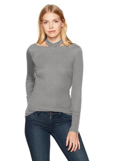 Guess Women's Long Sleeve Dayana Choker Top