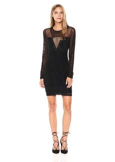 GUESS Women's Long Sleeve Delfina Lace Mix Dress