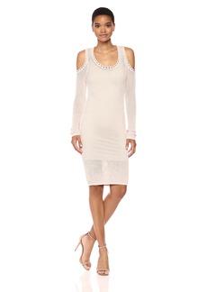 Guess Women's Long Sleeve Desiree Cold Shoulder Dress  M