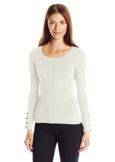 GUESS Women's Long Sleeve Doris Pointelle Sweater  M