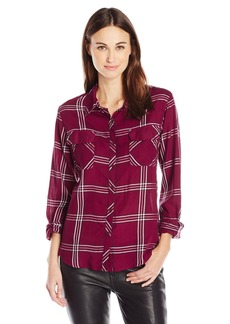 GUESS Women's Long Sleeve Dylan Autumn Plaid Shirt  S