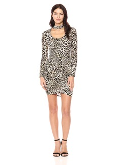 Guess Women's Long Sleeve Evan Ruched Dress  M