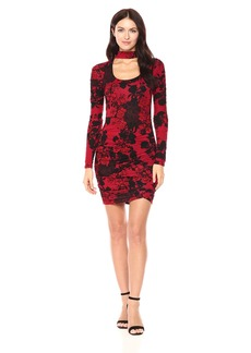 Guess Women's Long Sleeve Evan Ruched Dress  S
