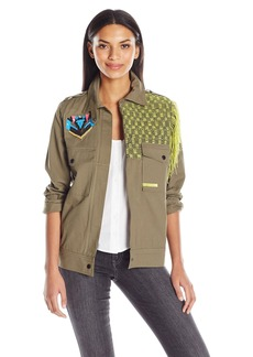 GUESS Women's Long Sleeve Flynn Cargo Jacket  M